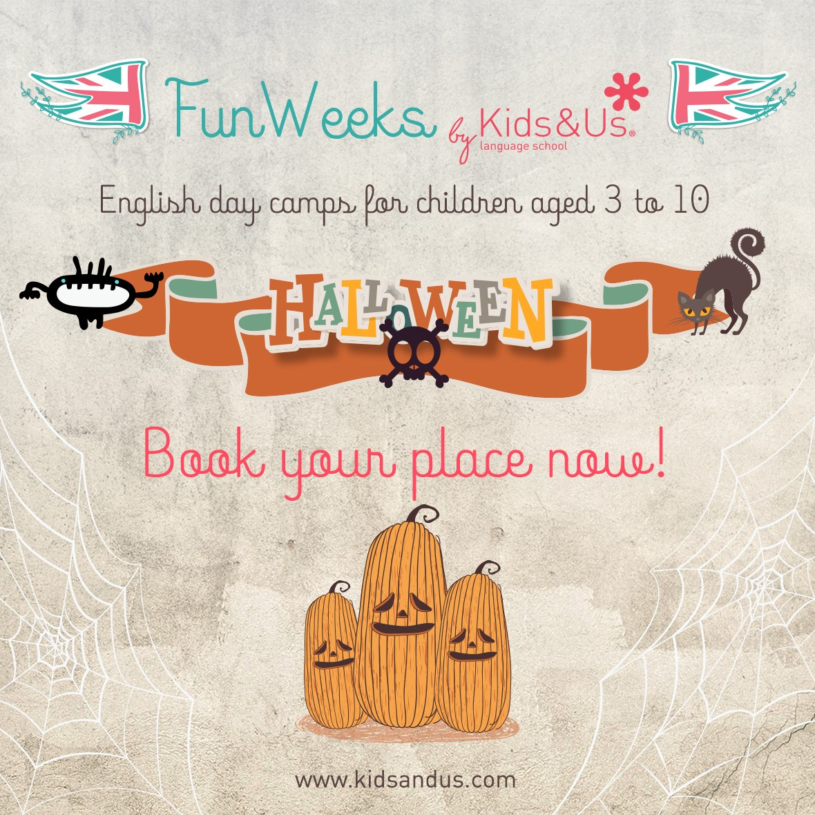 Enjoy a fun-packed Halloween with the Kids&Us Fun Weeks!
